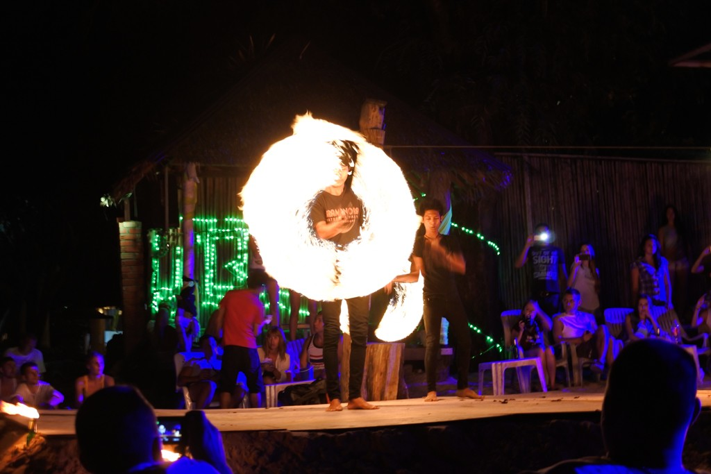 Flame twirling