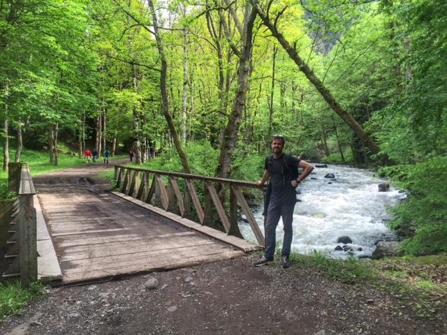 the walk to Borjomi hot springs
