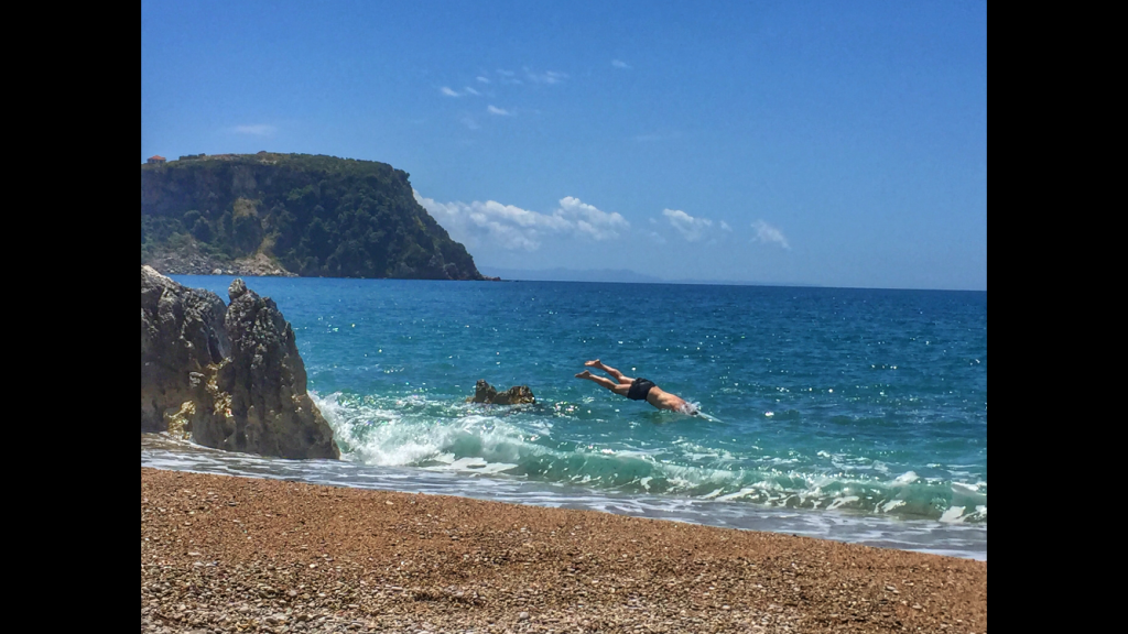 Diving head-first into the Ionian Sea