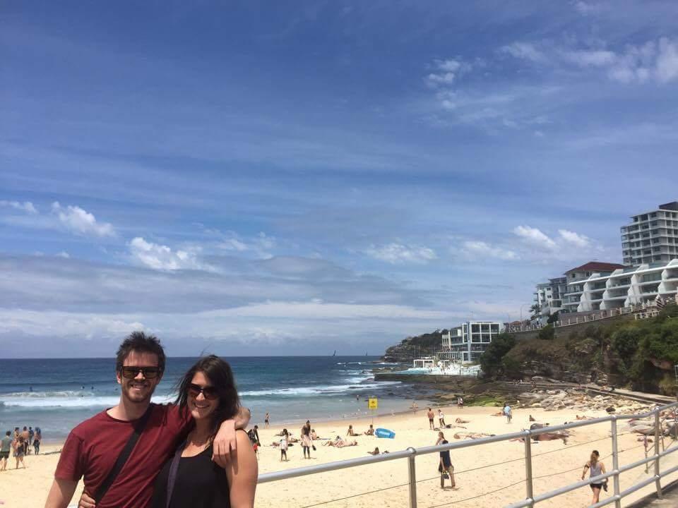 Checking out Bondi Beach!